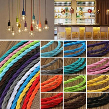 10 meters Fabric Cable cord for Vintage Pendant light 110/220V Decoration lamp Cables Gold Knitted Cloth Twisted Electrical Wire