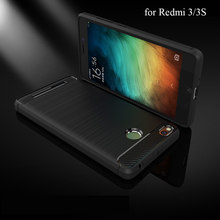 for Redmi 3 3S Case 5.0inch Soft Carbon Fiber Back Cover Phone Case for Xiaomi Redmi 3/ 3S/ 3 Pro Case Flip Protective Non Slip