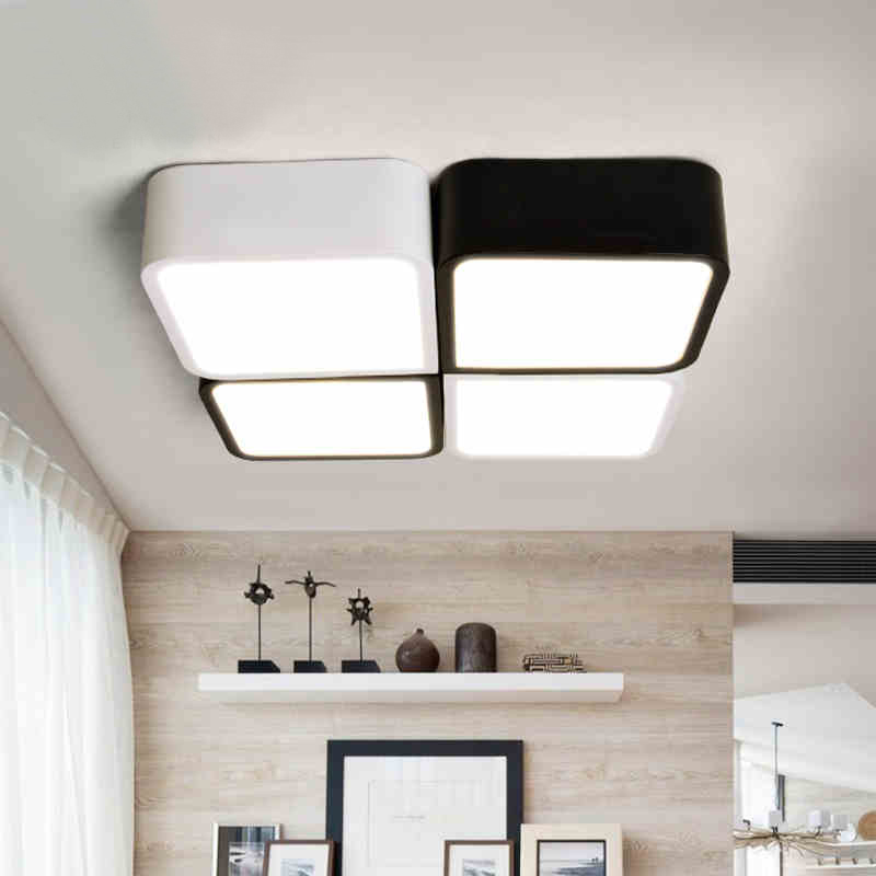 Modern LED to absorb dome light in the master bedroom light warm room light Contracted sitting room square lighting the study<br>