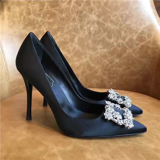 Fashion Crystal Women Pumps High Heels Red Blue Ladies Shoes Woman Bridal Wedding Shoes Hollow Pointed Toe Women Shoes Zapatos (16)