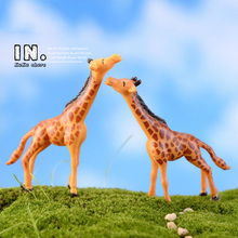 Home Micro garden decoration anime figurine cute kawaii Deer Giraffe animal Figures Toys doll succulent aquarium DIY accessories