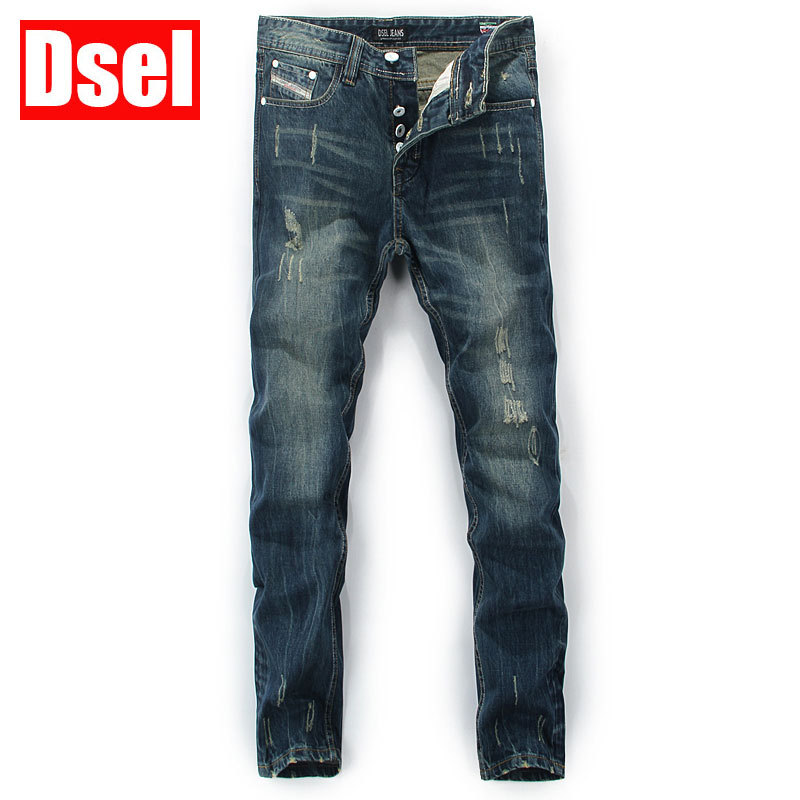 DSEL brand Free shipping new cotton fashion jean casual jeans European style straight simple bikermen Slim fit loose jeans menÎäåæäà è àêñåññóàðû<br><br>