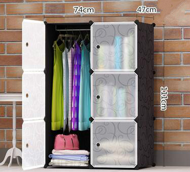 Simple wardrobe Storage Storage cabinet Dormitory single folding wardrobe Steel frame assembly lockers Student wardrobe(China (Mainland))