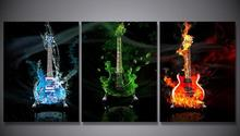 HD Printed Electric guitar Art Painting on canvas room decoration print poster picture canvas Free shipping(China)