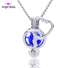 Angel Bola Jewelry Yoga Aromatherapy Essential Oils Surgical Perfume Diffuser Locket Necklace Drop Shipping L180