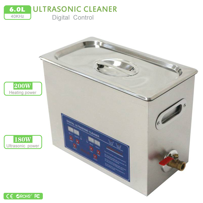 6L Ultrasonic Cleaner Industry Heater Timer Cleaner Cleaning Equipment Machine Stainless Steel PS-30A 110V / 220V(China (Mainland))