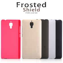 Nillkin Frosted Shield Cell Phone Case for Xiaomi Mi 4 Mi4 M4 Fashion Plastic Hard Back Cover Matte Case Capa + Screen Protector(China)