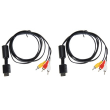 Wholesale 2pcs/lot NEW 6FT 1.8M Audio Video AV Cable to RCA For SONY For PS2 For PS3 For PlayStation SYSTEM(China)