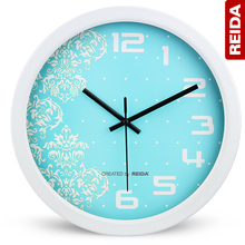REIDA Brand Creative Fashion 10 Inch Quartz Clock European Rual Mute Sitting Room Bedroom Wall Clock