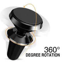 360 Degree Universal Car Phone Holder Magnetic Air Vent Mount Cell Phone Car Mobile Phone Holder Stand Mobile Phone Accessories(China)