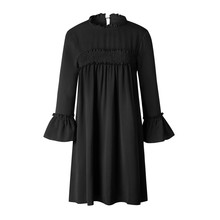 Buy New Arrive Women Dress Spring Summer Fashion Long Sleeve Dresses Black White Burgundy Womens Clothing Sexy Dress Vestidos for $8.54 in AliExpress store