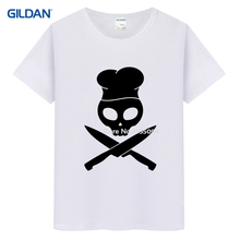 Chef Skull Master Bbq Apron Cooking Hat 2017 Buy T-Shirt Online Hop Mens T Shirt Sale Knitted Mens Tee Shirt Uniform(China)