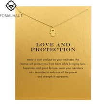 Hot Sale Sparkling Hand Pendant necklace Clavicle Chains necklace Statement Necklace Women FOMALHAUT Jewelry(China)