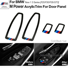 Motorsport M Performance Acrylic Window Switch Frame Cover Car Door Panel Trims For BMWW 1 3 Series F20 F30 F35 3 GT 3GT Styling