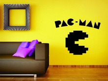 Free Shipping Pac Man Game Nintendo Wall Mural Vinyl Decal Sticker Decor Gamer Laptop(China)