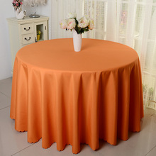 10pcs Orange 100% Polyester Round Table Cloths Banquet Table Covers Wedding Linens For Event Hotel Banquet Table Decoration