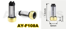 hot wholesale 10pcs high quality fuel injector filter (14*3*6mm,AY-F108A) MD619962(China)