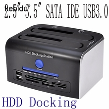 3.5 / 2.5 inch SATA II III Dual SATA HDD Docking Station dock to 5Gbps usb 3.0 docking station External Hard Drive up to 8TB(China)