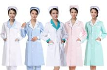 women Medical Coat Clothing Physician Services Uniform Nurse Clothing Long-sleeve Polyester Protect lab coats Cloth Six color
