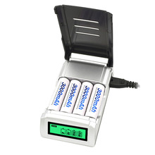 LCD Display Quick Charge Battery Charger for AA AAA C D 9V Ni-MH Ni-CD Rechargeable Batteries Support Discharge Function