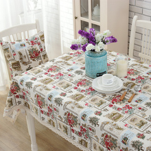 Small fresh linen tablecloths table  cloth pastoral style custom square tablecloth happy home