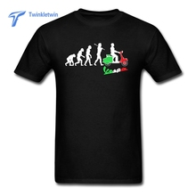 New Theme Vespa Evolution T Shirt Layout For Mans 2017 Hot Selling Cotton Streetwear Summer Tee Shirt Men Vespa T-shirt(China)