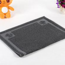 Pet Cushion Fiber Semi Circular Rectangle  Cat Clean Mat Cat Sand Filtering Ottomans Clean