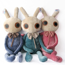 60cm creative big eye rabbit plush toy, bunny stuffed animal doll throw pillow