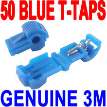 50pcs/lot 3M T-Tap Blue 18-14 AWG wire terminal quick splice tips connector free shipping(China)
