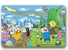 Custom Machine-Washable New Adventure Time Door Mat Indoor/Outdoor Decor 40x60cm Rug Doormat Room Decoration