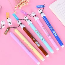 3 Pcs 0.38mm Japanese Sunny Doll Sakura Black Kawaii Chinese Cute Glitter Korean Gel Pen Korea School Supplies Stationery Pen(China)