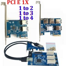 10set/lot PCI E 1 to 4 2 PCI-E PCI Express 1X 1 to 3 Port 1X Switch Multiplier HUB Riser Card External Internal + USB 3.0 Cable(China)