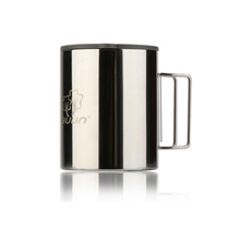 1Pcs 280ml Double Layer Travel Mug Cup Thermal Stainless Steel Water Cup Tea Cup Camping Travel Tumbler with Handle(China)