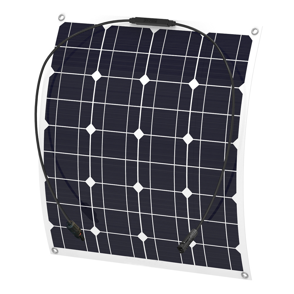 ALLPOWERS-Flexible-50W-Monocrystalline-Solar-Panel-with-MC4-Cable-for-RV-fishing-boat-cabin-tent-yachts (1)