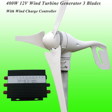 Hot selling Rated 12V 400W Wind generator with 3 blades & Perfect Wind Power Charge Controller Wind Power Generator Kits