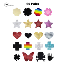 60 Pairs 5Choices Sexy Women Nipple Cover Satin Pasties Milk Paste Disposable Breast Petals Sticker Summer Fashion Ypser(China)