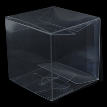 20Pcs/ Lot 7*7*7cm Transparent Plastic Storage Package Boxes Jewelry Clear Poly PVC Box For Small Gift Craft Cosmetics Bottle