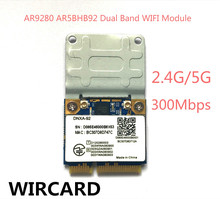 Atheros AR9280 AR5BHB92 Dual-Band 2.4GHz and 5GHz 802.11a/b/g/n 300Mbp Wireless wifi mini pci-e Card(China)