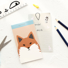 1 Pcs Cute Kawaii Korean Japanese Animal fox Sticky Notes Post It Memo Pad Paper Kids School Office Supplies Stationery(China)