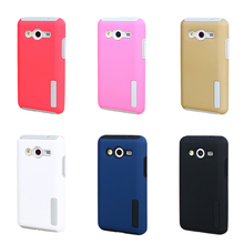 2 in 1 Colorful Hybrid Rugged Rubber Armor Case For Samsung Galaxy Core 2 Core2 G355H G355 Hard PC+TPU Shockproof Cover     GE01