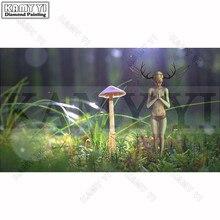 Рукоделие DIY Вышивка с кристаллами грибной эльф живопись алмаз Вышивка квадратный/круглый Алмазная мозаика фотографии подарок(China)