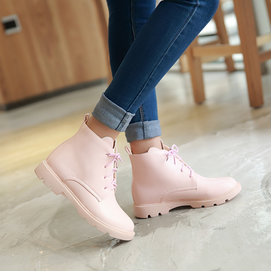 Size 39 Womens Motorcycle Ankle Boots Pu Leather 2016 Autumn Winter Casual Shoes For Woman Military Botas Vintage High Top Y-6<br><br>Aliexpress