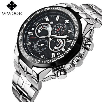 Marca de lujo de los Hombres Reloj de Cuarzo Ocasional Impermeable de Los Deportes Militares Relojes Hombres de Acero Inoxidable Reloj de Pulsera relogio masculino