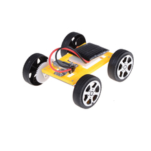 Hot DIY Solar Toy Car Assemble Solar Vehicle Mini Solar Energy Powdered Toys Racer Child Kid Education Kit 80*68*26.5mm(China)