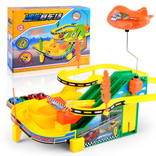 Hot Wheels Track Car Toy with escalator and Helicopter Electric Music Track Racing Car kids train track model slot Toy Gifts