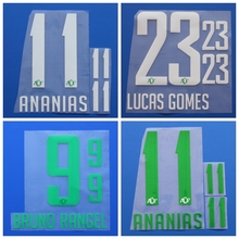 New Chapecoense ANANIAS BRUNO RANGEL LUCAS GOMES football number name font print, Hot stamping Soccer patches badges