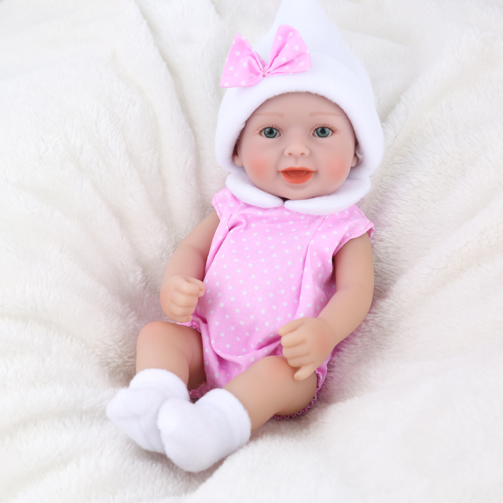 Reborn baby dolls Silicone Lifelike Vinyl 10/'/' Realistic Doll Gift Real Like