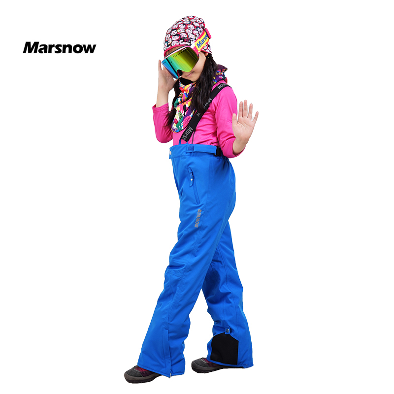 -30 Marsnow New Arrival Girls Boys Childen Warm Winter Unisex Thermal Ski Pants Windproof Waterproof Outdoor Snowboard Trousers<br>