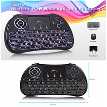 TZ P9 Portable Mini 2.4GHz Wireless Backlight Keyboard Toupad With 300mAh BL - 5B Lithium-ion Battery For TV Box Projector PC