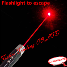 Real room escape game, laser flashlight to escape, magic torch flashlight to open the lock, customize escape prop,DIY kit